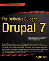 Couverture Definitive Guide to Drupal 7